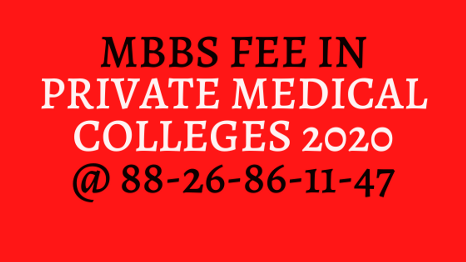 MBBS Fee in India private college 2020