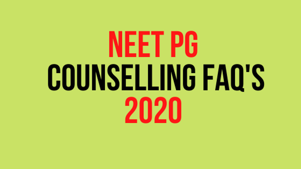 neet pg counselling faq